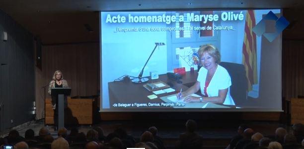 Balaguer ret homenatge a Maryse Olivé