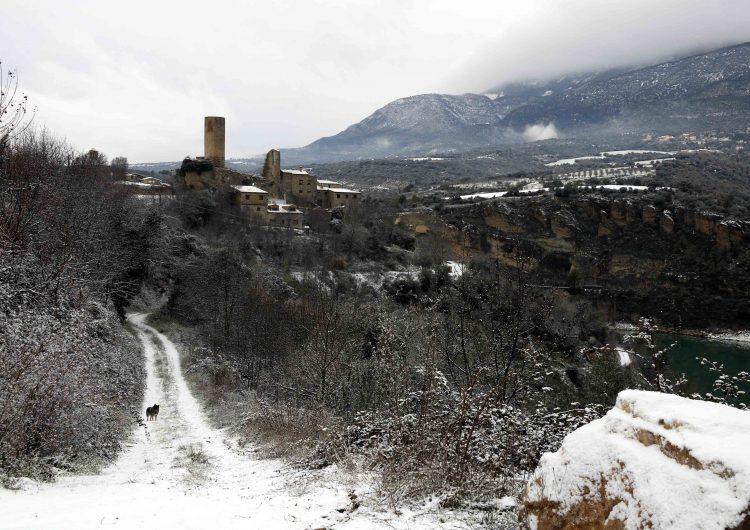 La nevada enfarina els punts més elevats de la Noguera