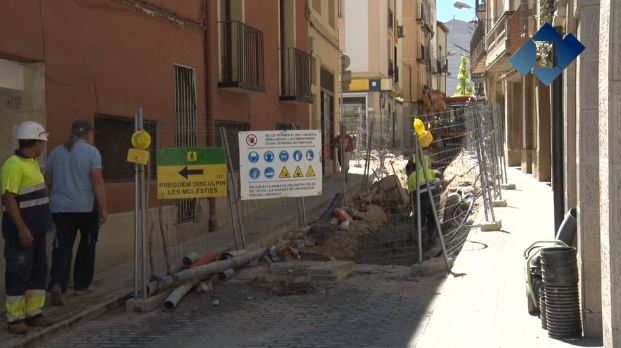 L'Ajuntament preveu finalitzar les obres del C/ Barri Nou en tres mesos