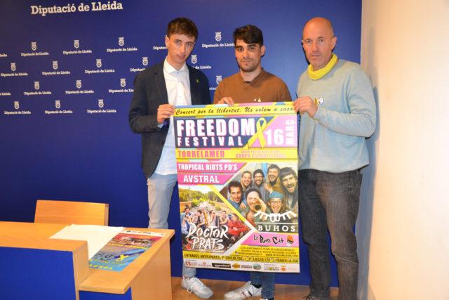 ''Buhos' i 'Doctor Prats', caps de cartell del concert 'Freedom Festival 2019' de Torrelameu en suport als presos polítics