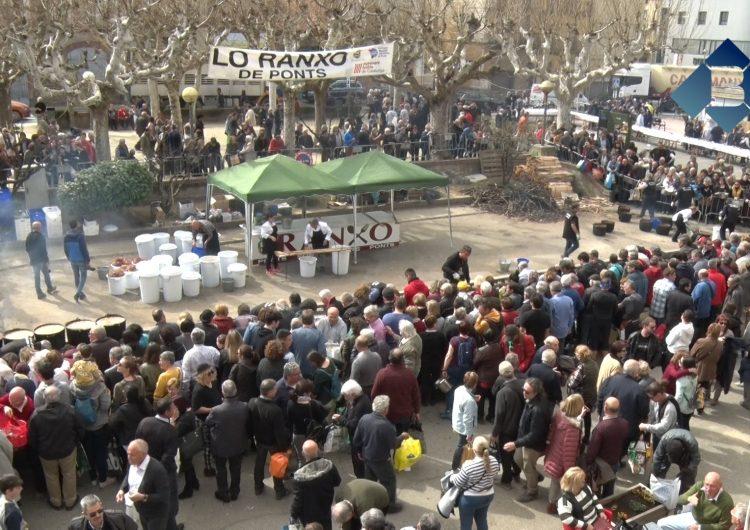 Ponts reparteix 12.000 racions del seu tradicional ranxo