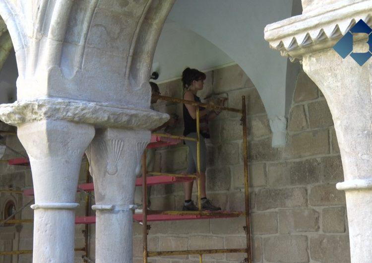 Noves actuacions de restauració al Claustre del Monestir de les Avellanes