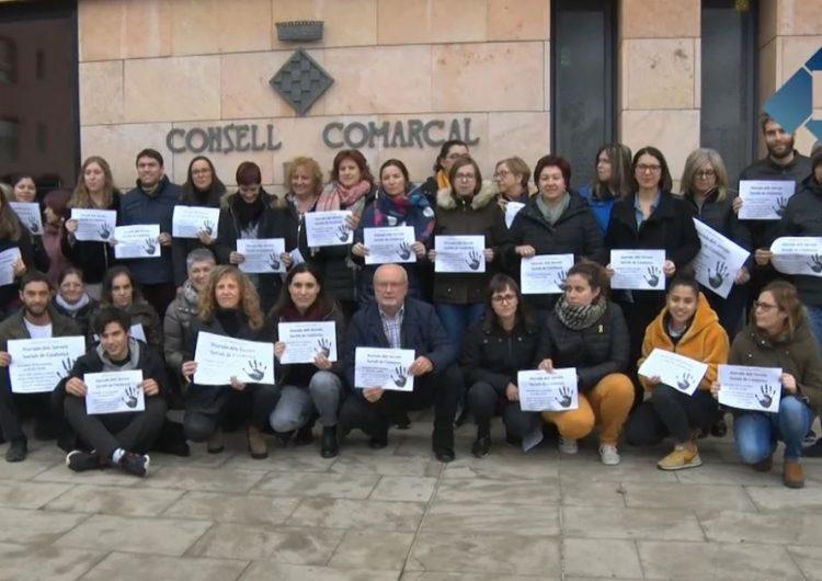 Els treballadors del Consell Comarcal s'aturen per demanar més protecció per l'àrea de serveis socials