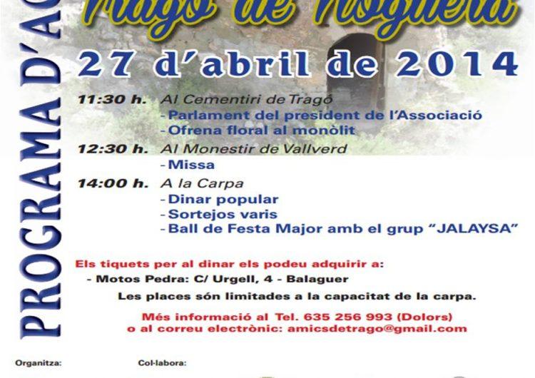 Festa Major de Tragó de Noguera el proper 27 d'abril