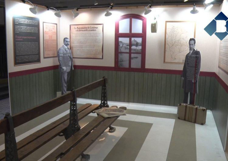 """El Museu de la Noguera acull l'exposició """"A tota màquina"""" sobre el tren de Tàrrega a Balaguer"""