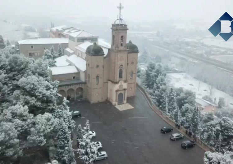La nevada a Balaguer, a vista d'ocell