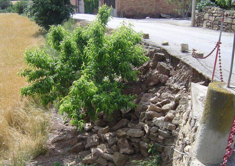 Artesa de Segre fa reparacions d'urgència als camins afectats pels aiguats de finals de Maig