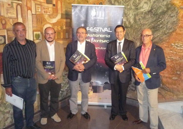 El 1r Festival d'Astronomia del Montsec atansarà l'astronomia i el patrimoni de la serralada al gran públic per potenciar el turisme del coneixement