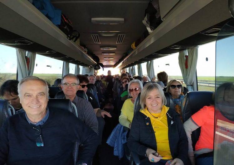 Dos autobusos de Balaguer surten rumb a Madrid