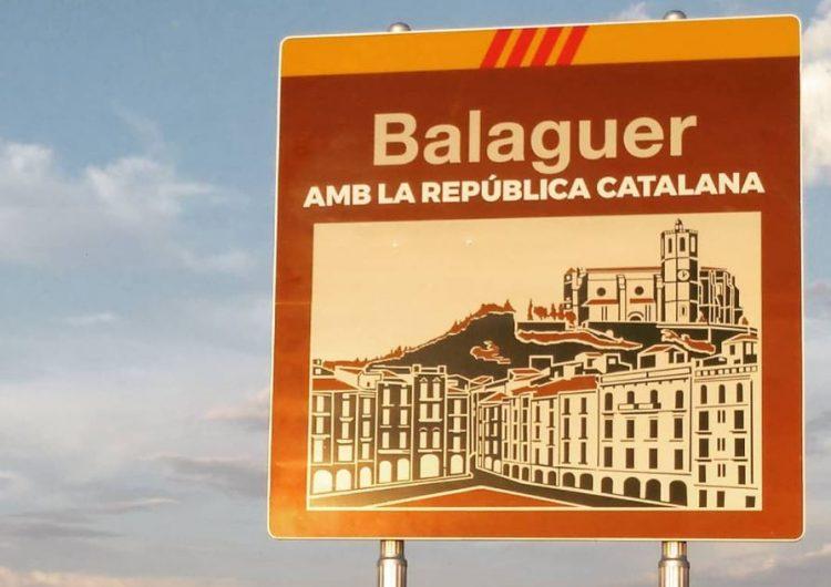 Ciutadans amenaça en denunciar l'Ajuntament de Balaguer si no retira els llaços grocs, banderes i símbols partidistes