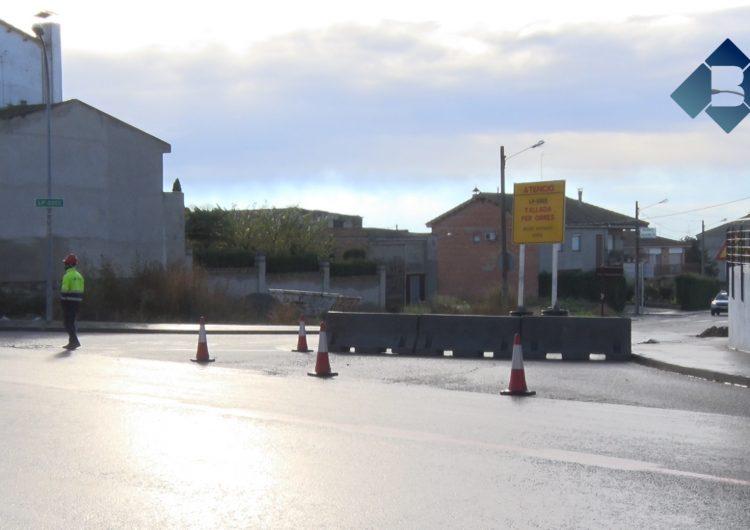 Tallada la carretera de Bellcaire a Linyola per obres durant uns mesos