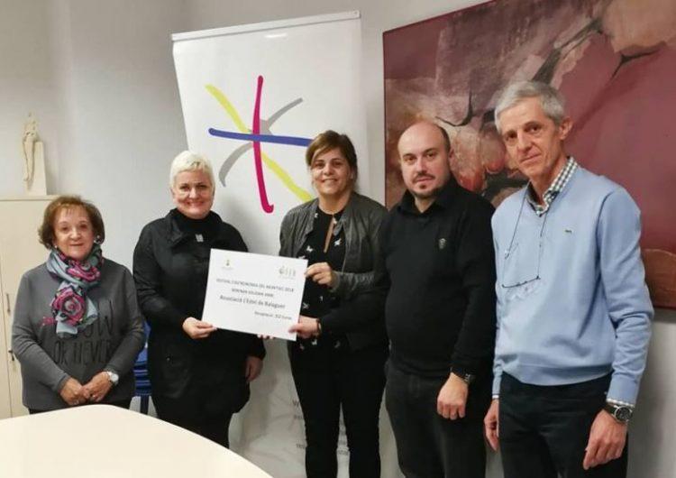 L'Associació l'Estel de Balaguer rep el donatiu del berenar solidari celebrat durant el Festival d'Astronomia del Montsec
