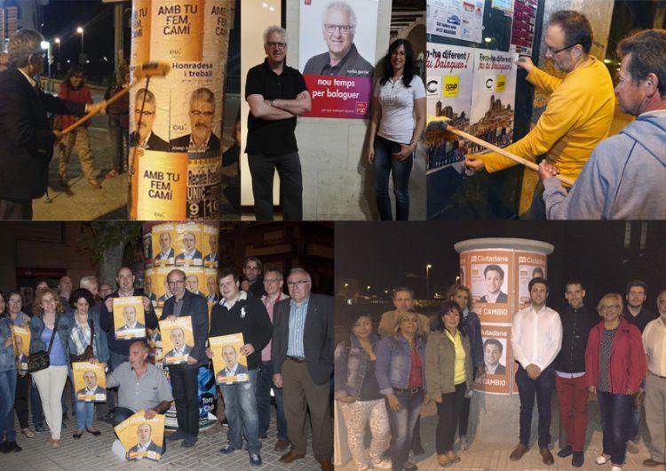 Comença la campanya electoral amb l'enganxada de cartells