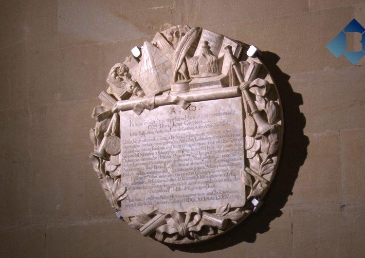 El monestir de les Avellanes posa en valor el seu patrimoni restaurant la placa laudatòria de Jaume Caresmar