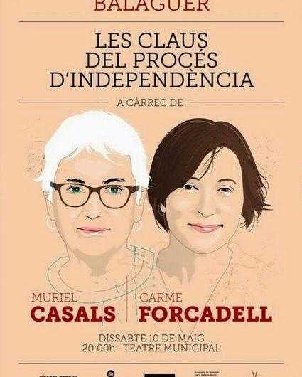 Muriel Casals i Carme Forcadell parlaran dissabte a Balaguer sobre les claus del procés d'independència