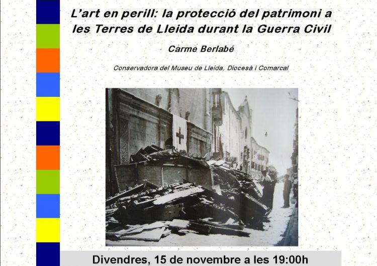 L'art en perill i la protecció del patrimoni, al cicle de conferències de l'Espai Orígens de Camarasa