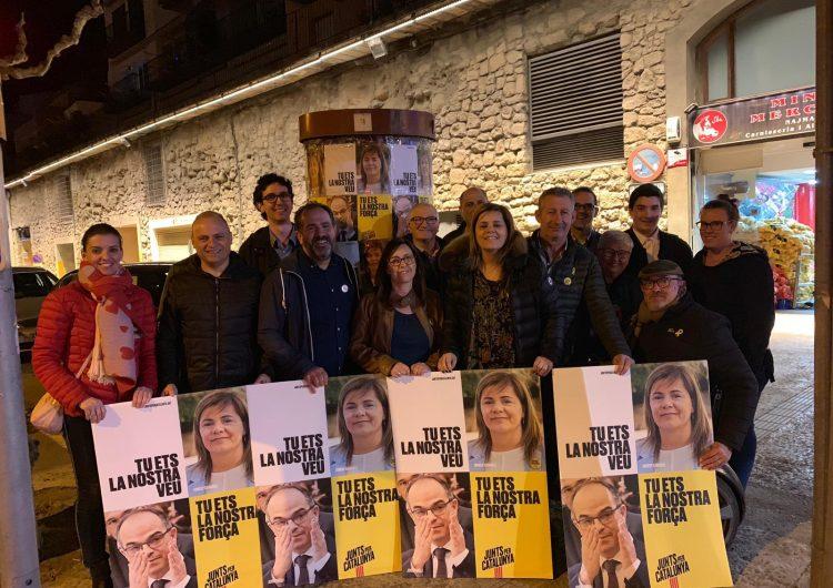 Inici de campanya de Junts per Catalunya amb Concepció Cañadell a Balaguer