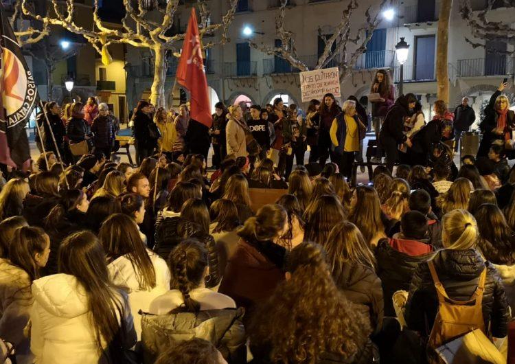 Manifestació feminista a Balaguer en el Dia Internacional de les Dones