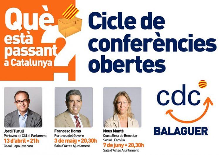 CDC a Balaguer organitza el cicle de conferències 'Què està passant a Catalunya?' per explicar el procés de transició nacional