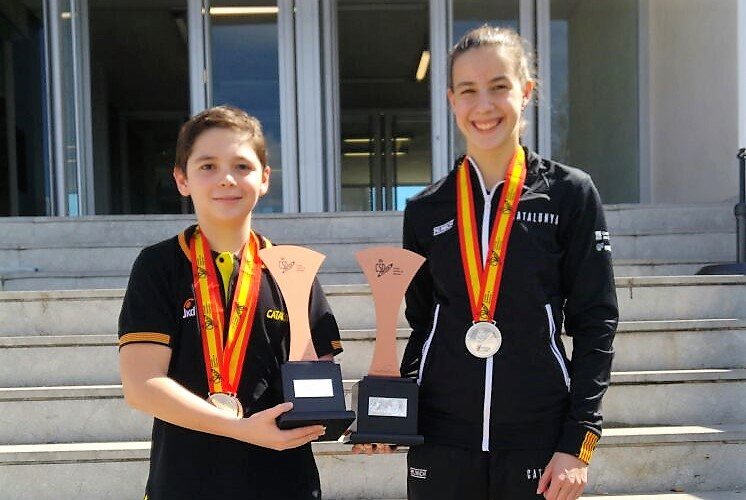 Berta Benseny i Íker Ruiz, sotscampions estatals amb la selecció catalana