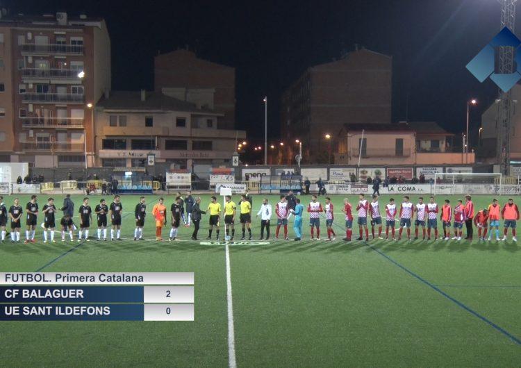 El CF Balaguer millora la imatge davant el Sant Ildefons