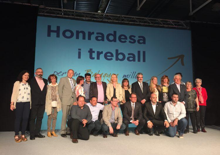 CiU presenta la llista electoral en presència d'Artur Mas