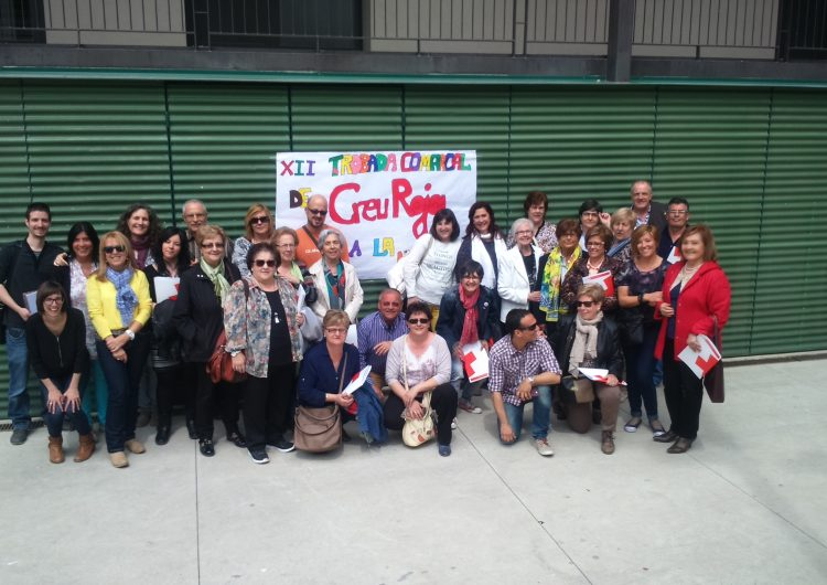 La XII Trobada Comarcal de la Creu Roja a La Noguera aplega  50 voluntaris a Artesa de Segre