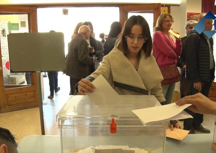 Eleccions generals: Votació de Cristina Daza, candidata de Cs al Senat per Lleida