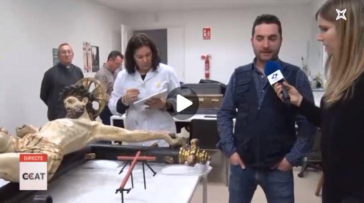 Connecti.cat: Restauració del crist crucificat de Sant Josep