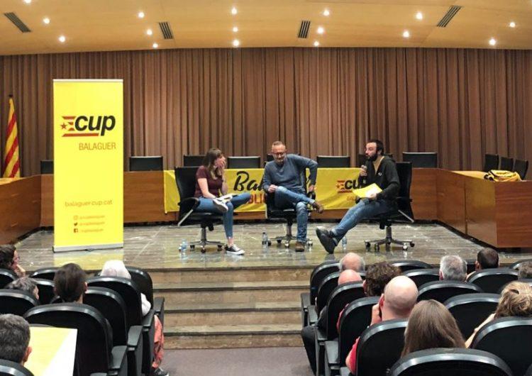 La CUP celebra el seu acte de campanya a Balaguer amb Albert Botran, exdiputat al Parlament