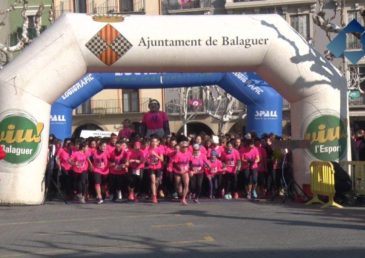 La VI Cursa de la Dona de Balaguer reuneix 1.200 participants en contra la violència masclista