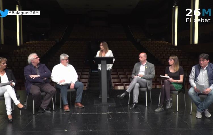 Els pactes postelectorals, protagonistes al debat de candidats de Balaguer Televisió