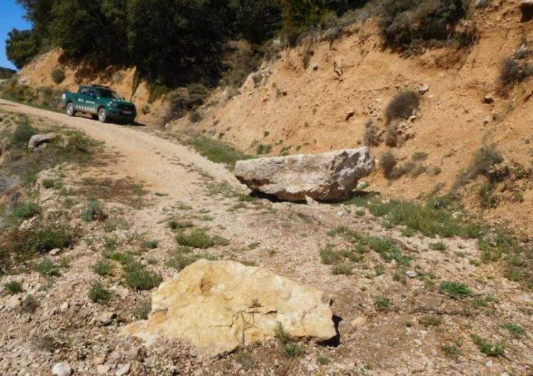 Alerten d'un despreniment de roques al Montsec d'Ares