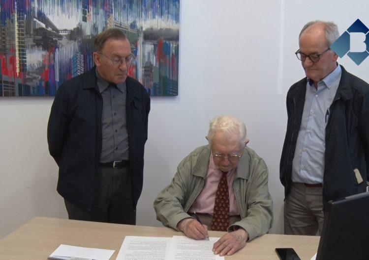 La Fundació Marguerida de Montferrato lliura 3.150 euros d'una performance d'Albino Pitti al Banc d'Aliments