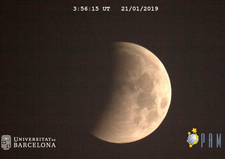 Així s'ha vist l'eclipsi total de Lluna des del Centre d'Observació de l'Univers a Àger