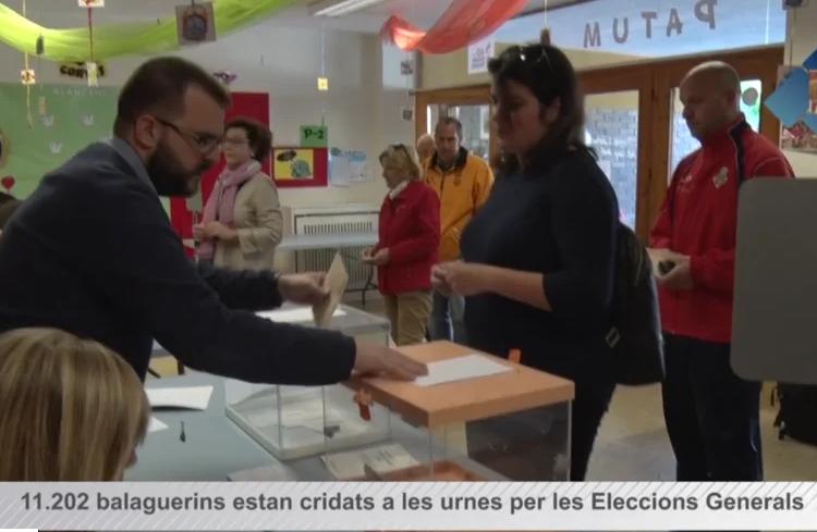 Eleccions generals: Balaguer es mobilitza en unes eleccions marcades per la incertesa i pendents dels pactes