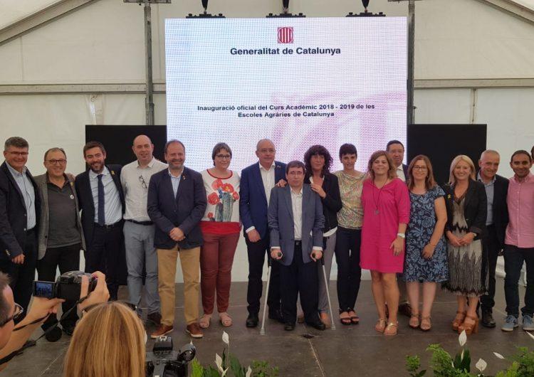 Els consellers d'Agricultura i d'Ensenyament han inaugurat oficialment el curs de les Escoles Agràries a Vallfogona de Balaguer