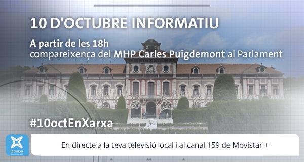 EN DIRECTE: Especial informatiu 10 d'octubre