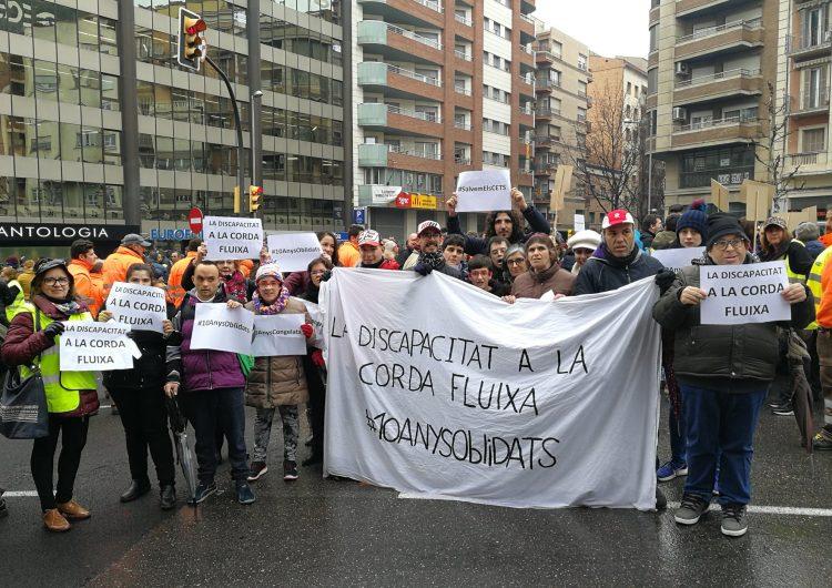 Les entitats que treballen amb discapacitats denuncien a Lleida la precarietat econòmica dels Centres Especials de Treball