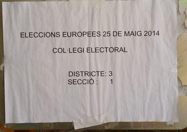 Confusió a Balaguer per un cartell de les Eleccions Europees del 2014