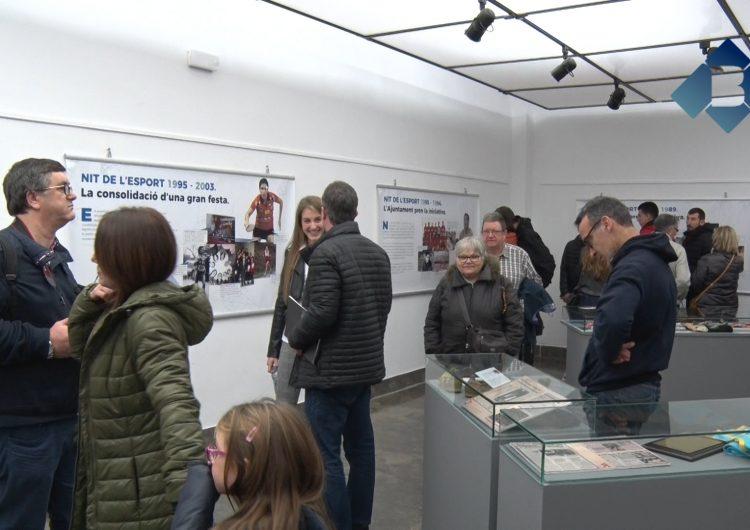 """Robert Martínez inaugura l'exposició i la presentació del llibre dels 30 anys de """"La Nit de l'Esport"""" de Balaguer"""