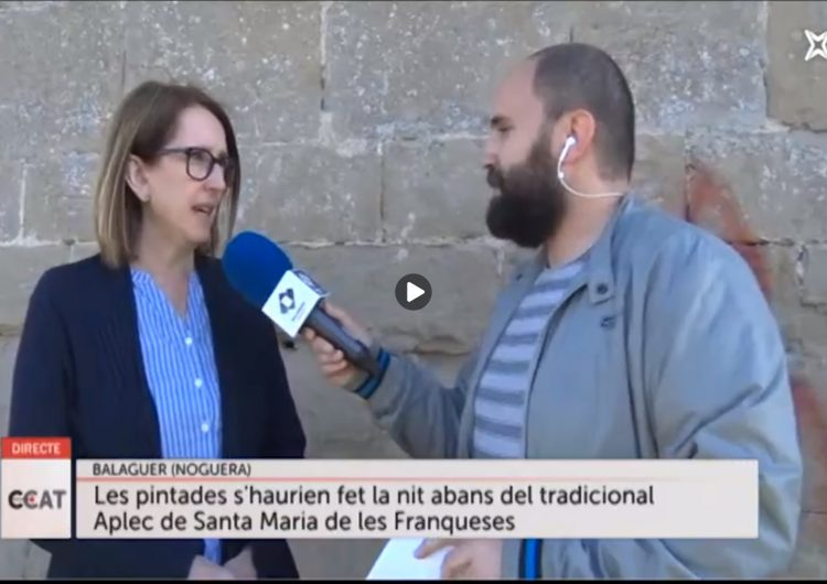 Connecti.cat: Les pintades al monestir de Santa Maria de les Franqueses es podran treure