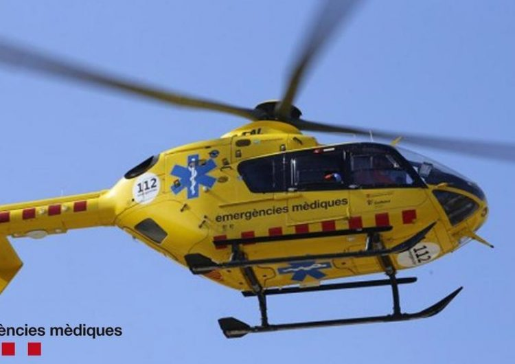 Un escalador resulta ferit en patir una caiguda i quedar penjat en una paret a Vilanova de Meià