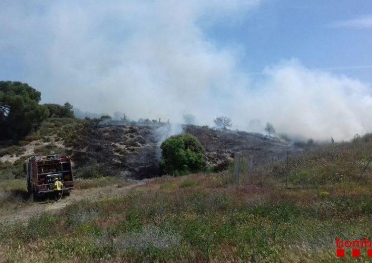 Un incendi a Sant Jordi de Muller crema 2.500 m2 de superfície forestal