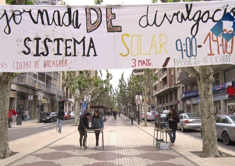 El passeig de l'Estació de Balaguer es converteix en una gran maqueta del Sistema Solar