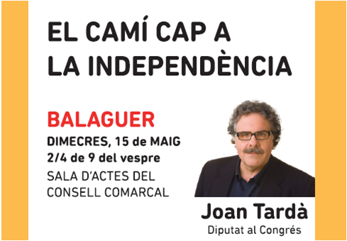 Joan Tardà, Diputat al Congrés, avui a Balaguer