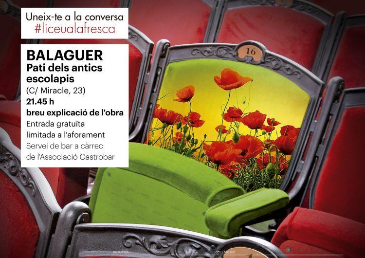 Balaguer se suma un any més a l'activitat 'Liceu a la fresca'