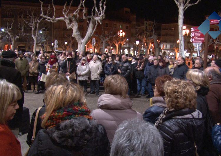 Concentració a Balaguer per demanar la llibertat dels Jordis