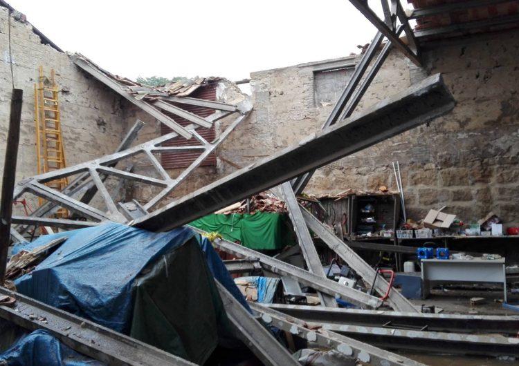 Enfondrament d'un magatzem municipal de Montgai