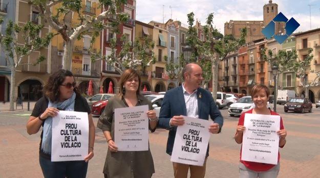 El Consell Comarcal de la Noguera i l'Ajuntament de Balaguer organitzen un acte de rebuig a la sentència de 'La Manada'